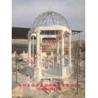 天然石材景观亭子白色大理石欧式凉亭