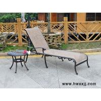 户外铸铝躺椅沙滩特斯林躺椅泳池穿布躺椅休闲家具