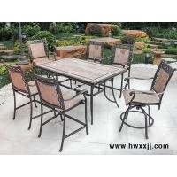 瓷砖面长方形桌花园别墅酒店度假村铸铝桌椅馨宁居户外休闲家具