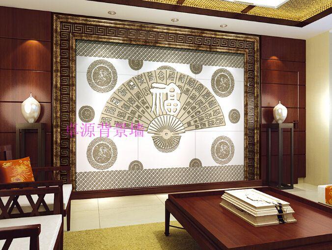 高档家庭背景墙 微晶石瓷砖背景墙 精雕背景艺术砖