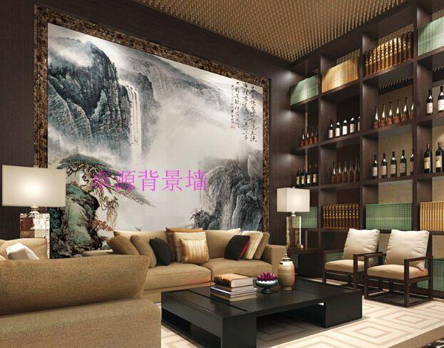 高档家庭装修背景墙 壁画电视墙 罗马线电视墙 亮光背景墙
