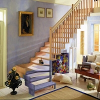 成都欧雅斯艺术楼梯-钢木楼梯 25