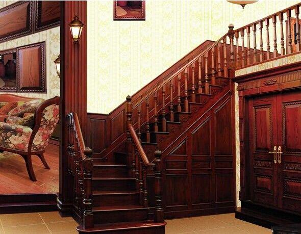 成都实木定制楼梯表示我们常见的家庭装修楼梯一般是木踏板和