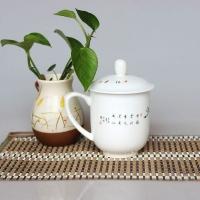 会议茶杯三件套,陶瓷茶杯