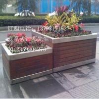 不锈钢防腐木花池 户外种树不锈钢花箱 不锈钢景观花坛