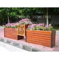 室外木制花架-景观小品花槽-园林花池