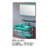 立波卫浴-PVC系列玻璃浴室柜LB-3071