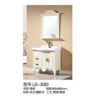 立波卫浴-PVC系列实木浴室柜LB-3083