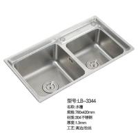 立波卫浴-水槽系列304不锈钢水槽LB-3344
