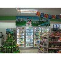 安徽玻璃门展示柜 定做玻璃门展示柜 饮料展示柜 超市饮料柜