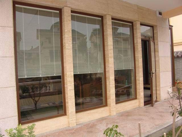 厦门内置铝百叶中空玻璃铝合金门窗(电动 手动)
