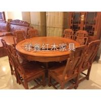 南京餐厅红木家具-餐桌椅-南京祥鑫红木家具