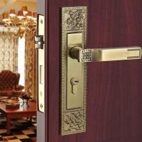 纯铜门锁 别墅室内门锁 中式风格门锁