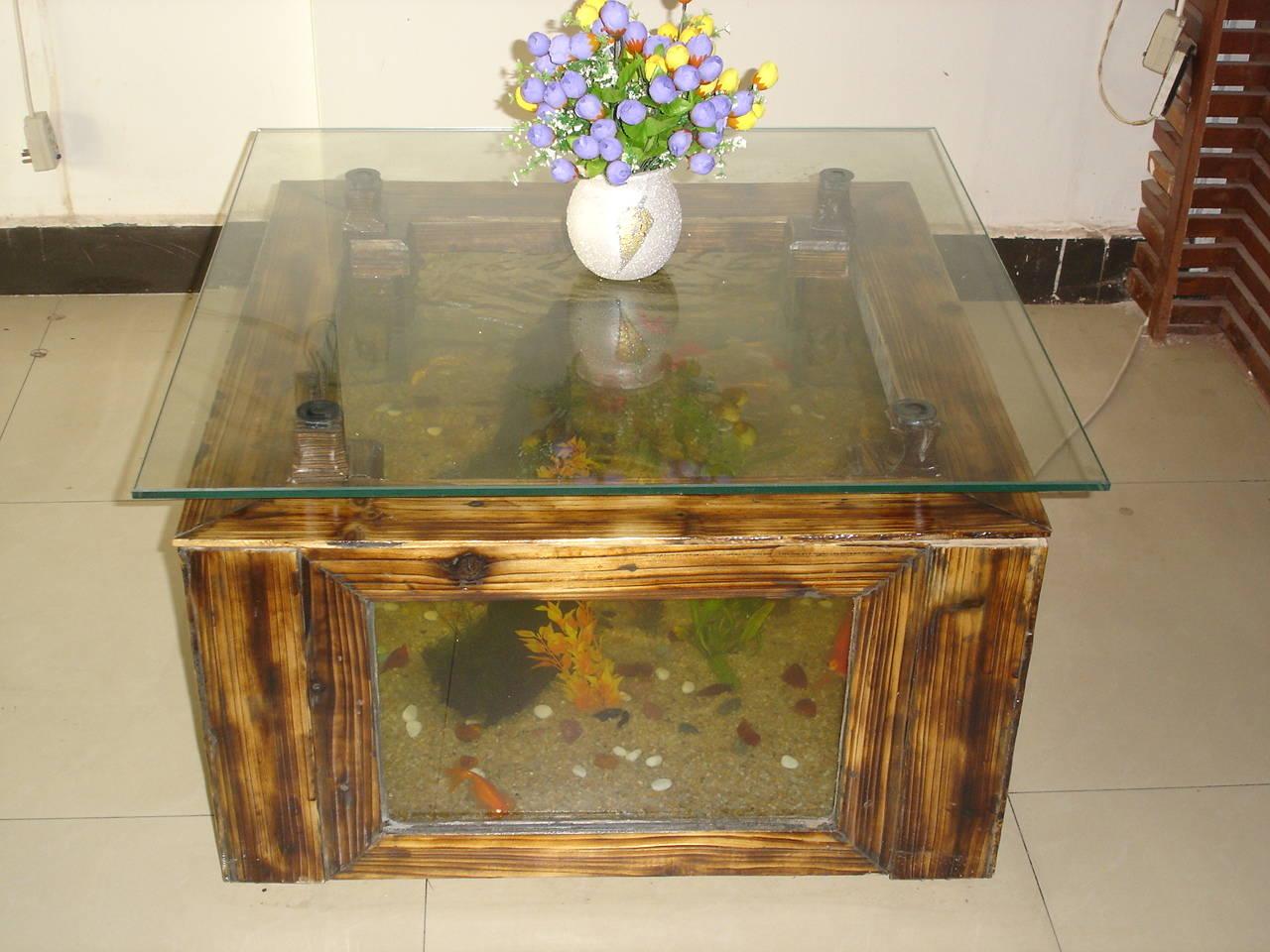 鱼缸桌子设计图片