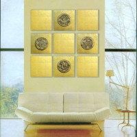 美尔墙饰板效果图(河北石家庄木门|七彩壁挂|墙饰板|套装