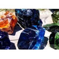 彩色琉璃块料,水晶琉璃石块,透明石头