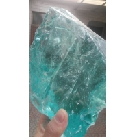 彩色水晶玻璃石头,灯光石笼景墙 水景堆装用琉璃块