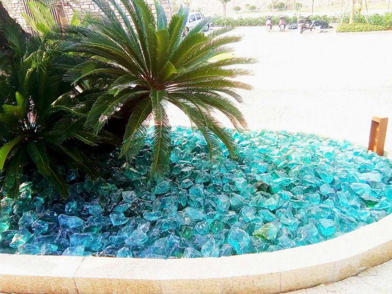琉璃(玻璃)石块 景观树池 水池装饰石 叠石 置石
