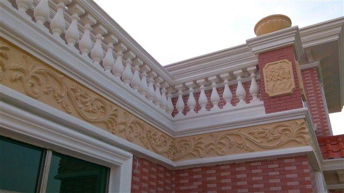 东莞别墅grc葫芦瓶栏河,grc栏杆围栏价格图片