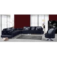 高档真皮沙发/休闲皮布转角沙发/客厅家具/顺德厂家直销D80