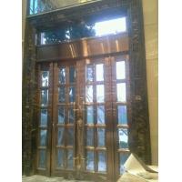 高级酒店不锈钢大门 室外弹簧门加工定制