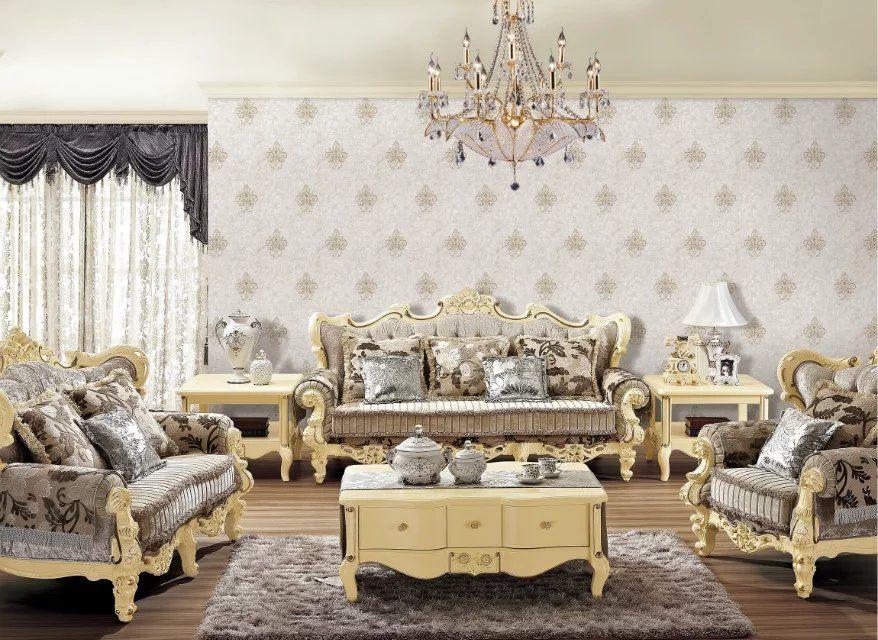 无缝刺绣工艺墙布 高端低价刺绣无缝墙布 卧室客厅墙布