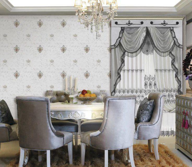 高精密刺绣墙布 欧式客厅卧室背景墙布 高档刺绣壁布