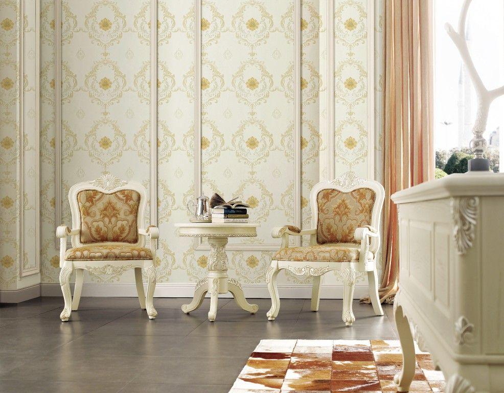 高档无缝墙布 欧式提花无缝墙布 环保无缝拼接墙布壁布