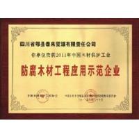 防腐木材工程应用示范企业