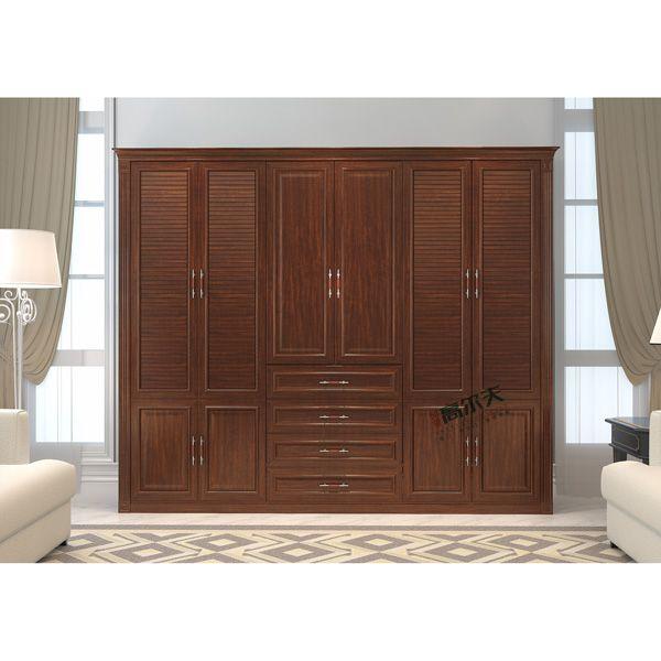 同色包覆平开衣柜门-印象高尔夫门业-挪威影橡平开门衣柜