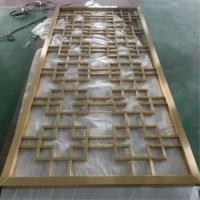 深圳不锈钢镂空屏风、星级酒店不锈钢屏风隔断