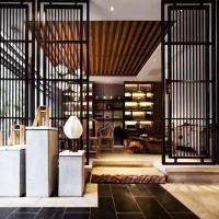 上海凯洋现代简约客厅花格定制 304不锈钢屏风隔断