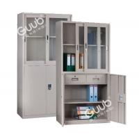 广州国保A2800S四门半玻璃纯钢制文件保密柜