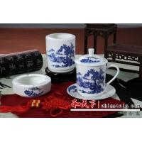 景德镇陶瓷茶杯 陶瓷三件套定做