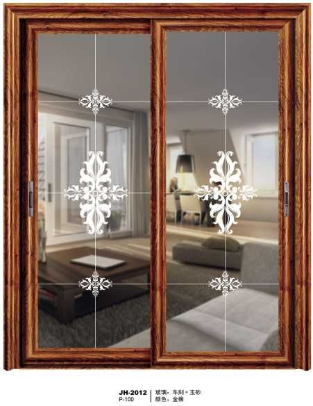 钛镁铝合金推拉阳台门  推拉门 钢化玻璃门