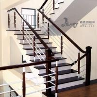经典简约室内用钢木楼梯
