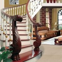 百姓园欧式复古旋转楼梯 阁楼楼梯 实木楼梯