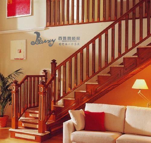 美式l型楼梯,实木楼梯设计