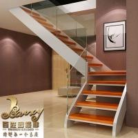 现代简约玻璃楼梯设计