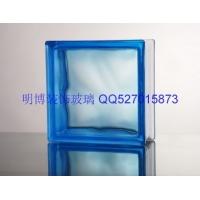 晶華牌玻璃磚,190*190*80mm藍色 云霧紋,