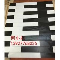 仿实木地板砖 800*150 纯白色纯黑色 防滑长条瓷砖