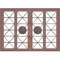 惠州铜门 防盗门 酒店别墅公寓玻璃铜门 花雕铸铝