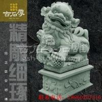 石雕狮子惠安雕刻风水石狮摆件石材大门狮子动物大象麒麟园林建设