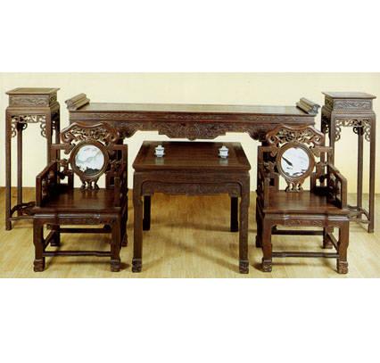 中堂(6件)产品图片,中堂(6件)产品相册 - 东阳木雕厂