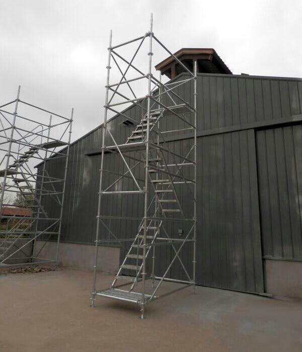 盘扣式镀锌安全爬梯  (挂梯拔1.5米)