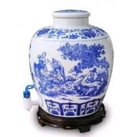 北京青花瓷酒坛批发,100斤酒坛