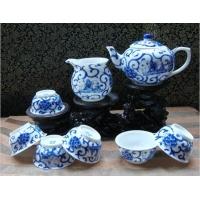 北京手绘茶具,青花瓷茶具批发