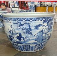 北京陶瓷品牌乾瓷轩青花瓷手绘大鱼缸