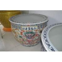 北京陶瓷风水鱼缸,青花瓷鱼缸
