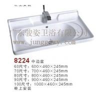 潮州专业柜盆 薄边盆 中边盆生产厂家8224陶瓷中边盆